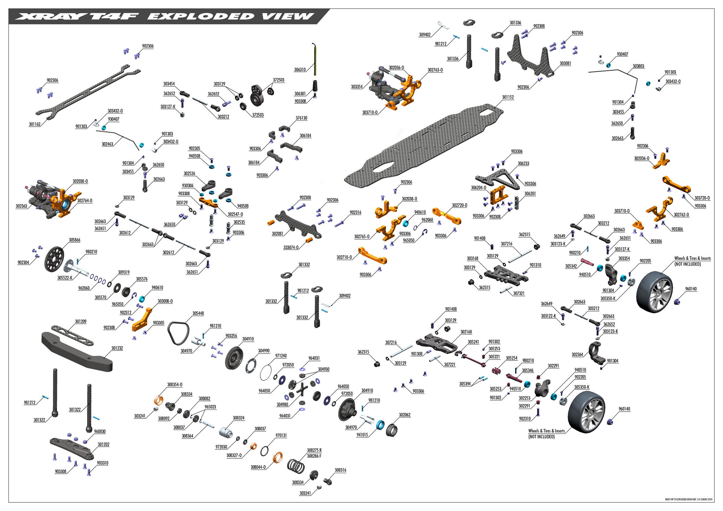 XRAY T4 2019 FWD 1/10 Chis R Wurks Esc Wiring Diagram on